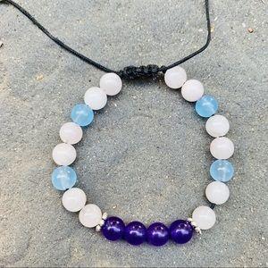 Gemstone Friendship Bracelet - Aquamarine